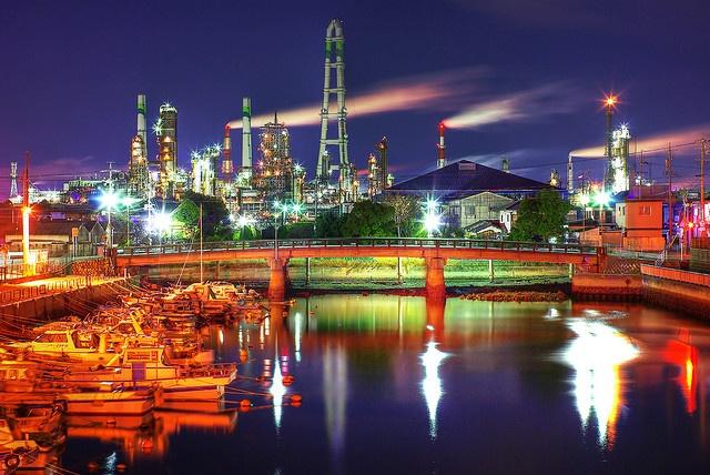 Petrochemical complex in Yokkaichi, Japan
