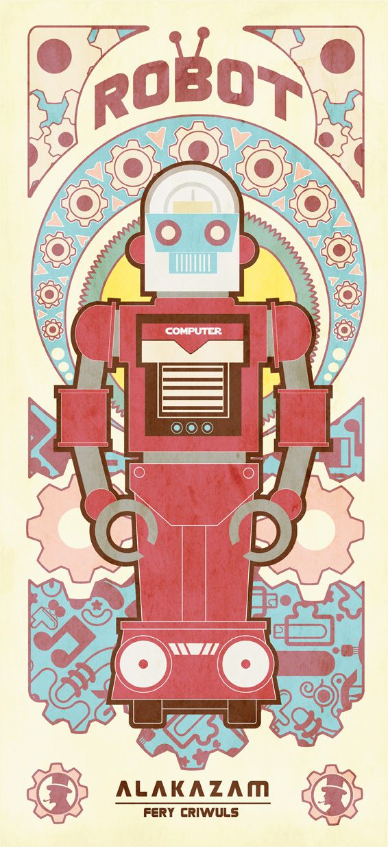Vintage Robot by fery criwuls, via Behance