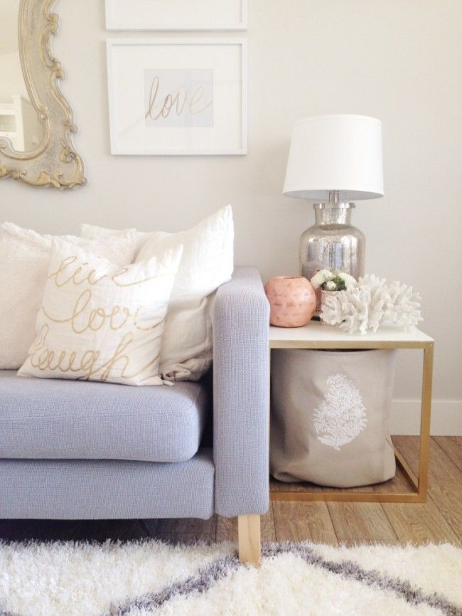 Chic Ikea Hacks - Sometimes all you need is a little gold spray make for a complete makeover