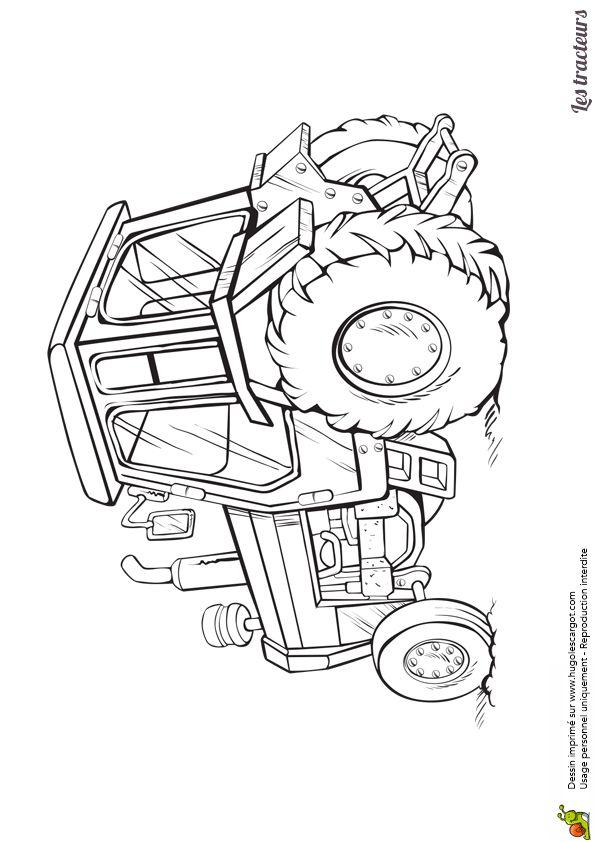 24 best coloriages de tracteurs et monster truck images on pinterest monster trucks tractors - Image de tracteur a colorier ...