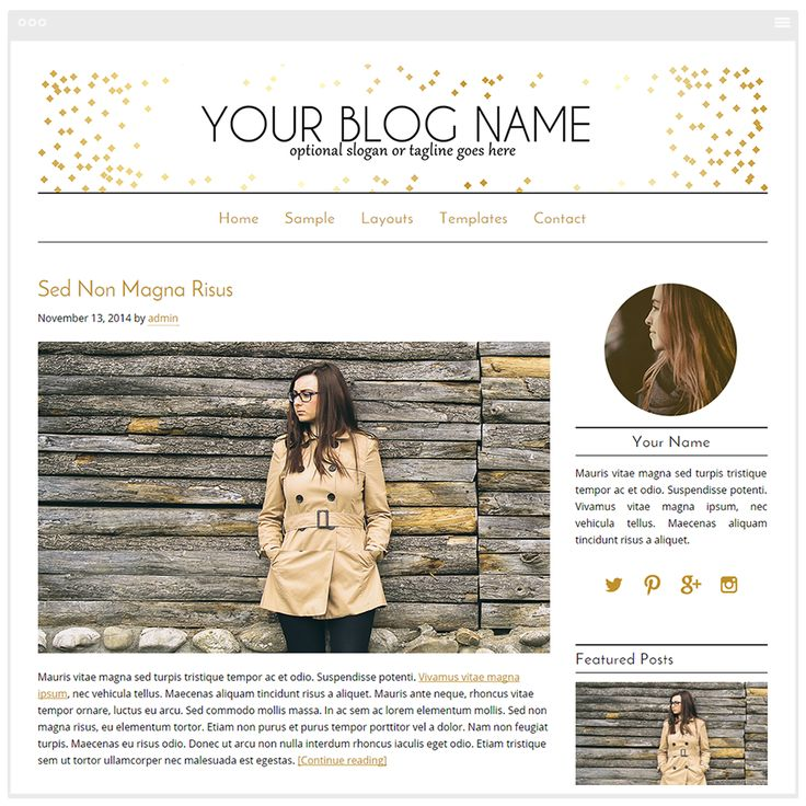 Audrey is one of the most popular gold WordPress templates in my gold collection of blog designs. It features a header banner designed using specks of white gold. This is the perfect for design for any personal blog that needs a bit of personality. Installation and Genesis Framework is included.