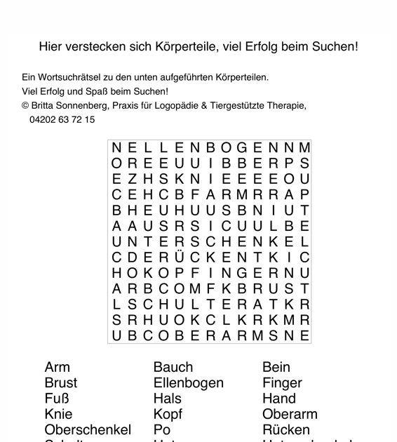 Wörter Suchen Spiel Deutsch