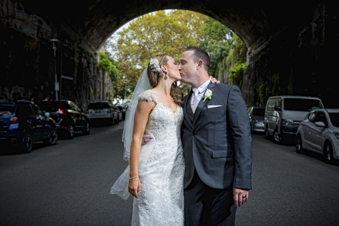 Beautiful framing of our bride and groom using the tunnel and amazing trees #markjayphotography #sydneyweddingphotographer #weddingphotography #bride #groom #kiss #pose
