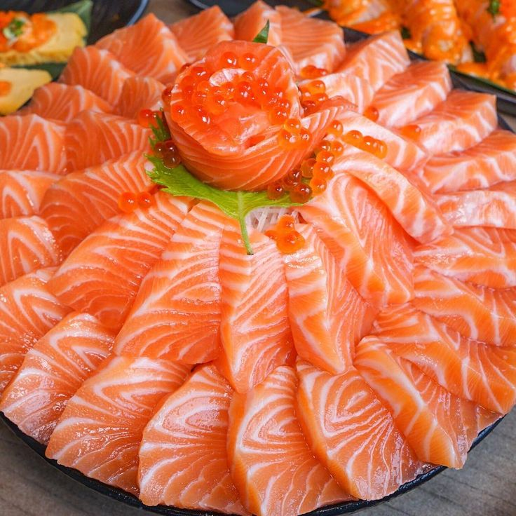 Salmon sashimi time!  Made by Shoyu