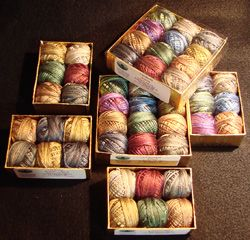 Valdani Silks - oh my, these are new to me...must investigate further as I LOVE Valdani threads.and that's why I posted this Pin to my miniature crochet page -Valdani cotton threads are what I've used on more than half of my published designs.