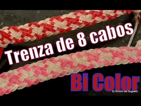 """Trenza de 8 (Trama 1x1) """"Bi Color"""" """"El Rincón del Soguero"""" - YouTube"""