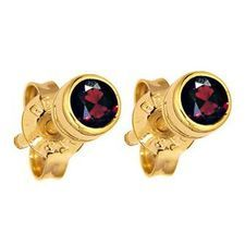 Garnet Stud Earrings - 2.5 mm - BEE-50116-GT40