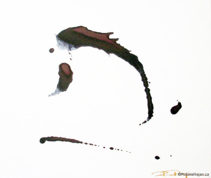 Ink journey iii | acrylic on canvas | 20x24