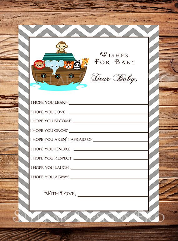 Noah's Ark Matching Well Wishes Card Baby by StellarDesignsPro