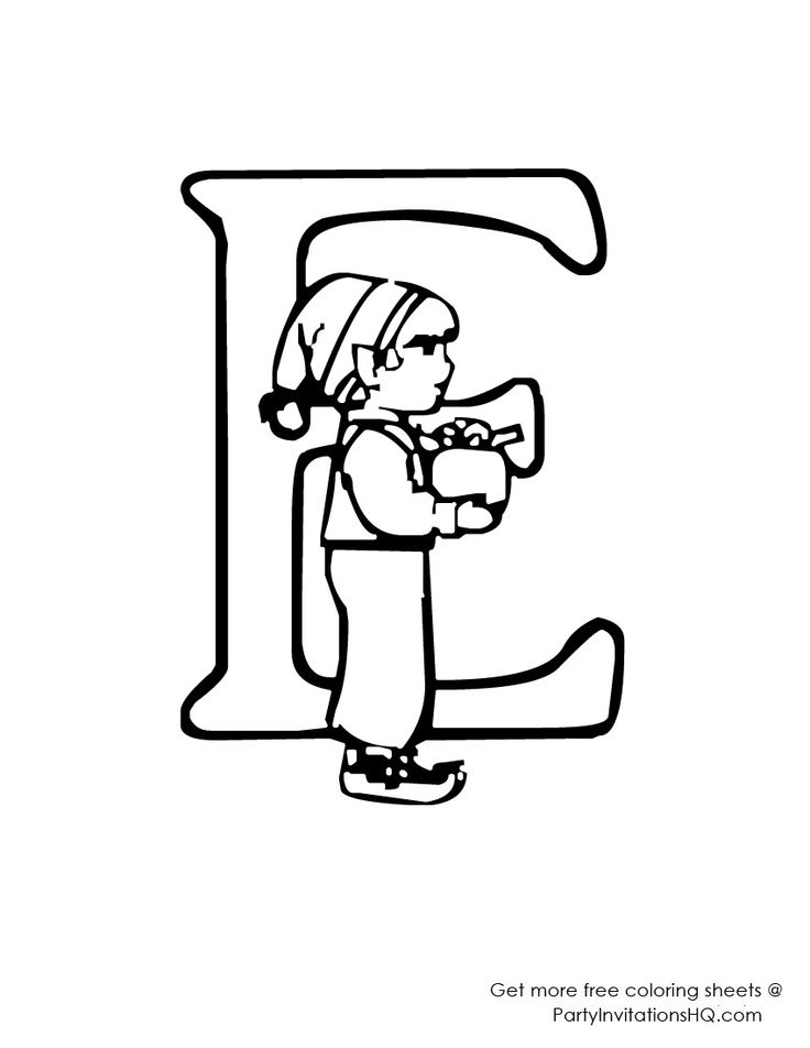 abc christmas coloring pages - photo#10