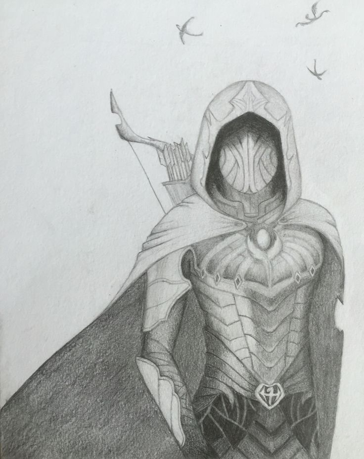 By GoldFinch :3  Skyrim, drawing, art, pencil