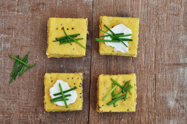 Anja's Food 4 Thought: Chickpea Crackers with Mustard Seeds, GF