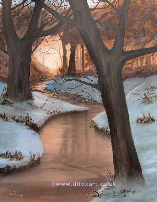 Winter Spice original oil painting.
