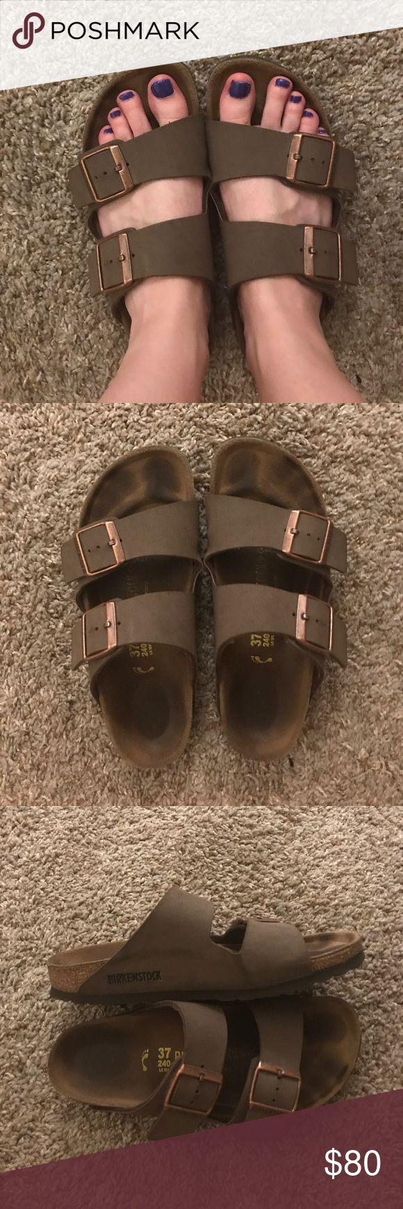Birkenstocks size 37/6.5 US Used but in overall good condition. Brown Birkenstock Arizonas- size 37/ 6.5 US Women's. Birkenstock Shoes Sandals
