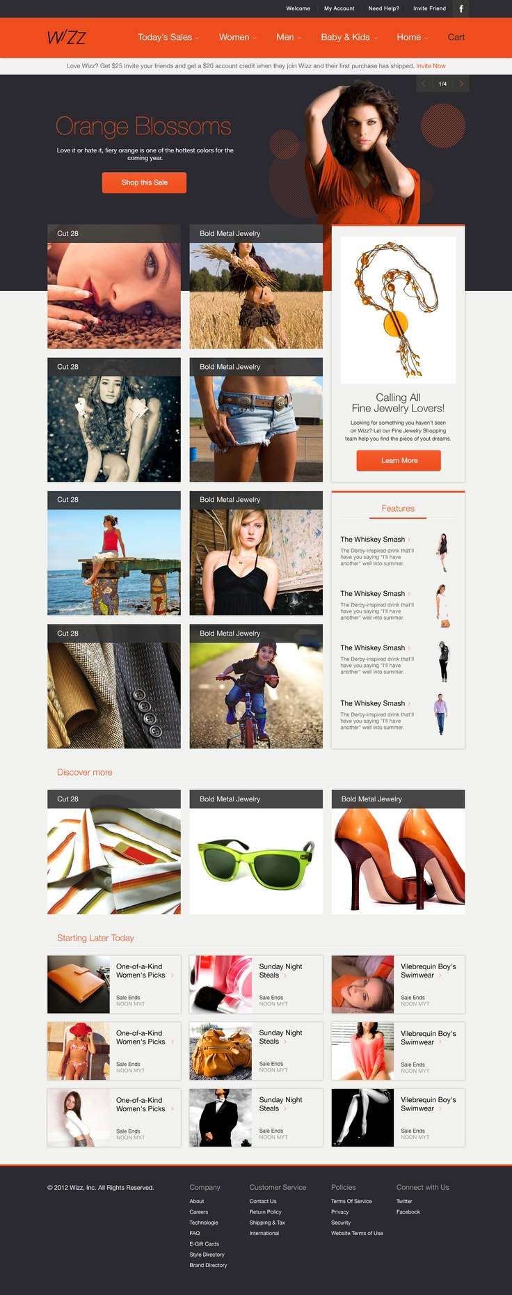 Wizz is a clean and modern PSD template. It was designed in Photoshop with a web 2.0 look. It can be used on all eCommerce and shopping cart websites!    The template comes in 100% editable, layered PSD files, making it easy to use and customize for practically any profession.