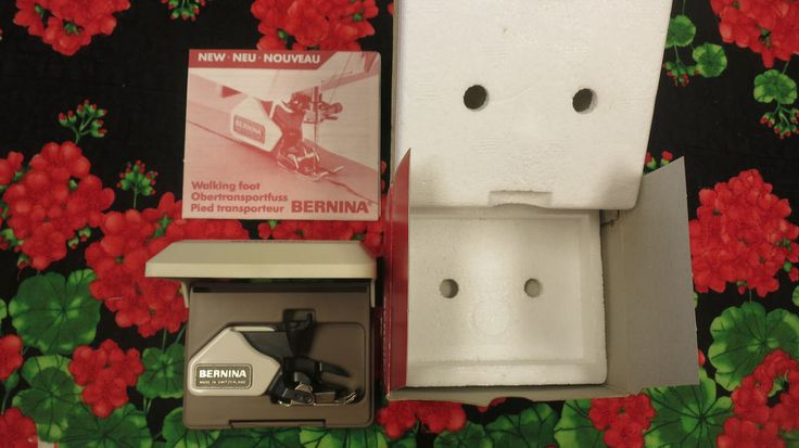 It has the wider prongs so it will only fit the 930 Record Berninas or earlier, the old, old Berinas from 530-930. Walking foot as shown. Not the New Style machines such as the Artistas. 1 sole which is on the foot. | eBay!