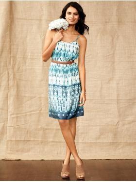 Silk Alicia Print Dress, $120.00, Banana Republic