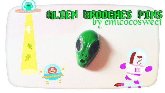 Check out this item in my Etsy shop https://www.etsy.com/au/listing/399795395/alien-broochalien-pinsrockability