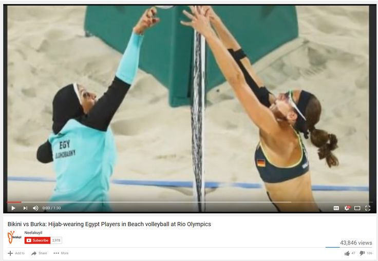 Burqa or Bikini? Hijab-wearing Egypt Players in Beach volleyball at Rio…