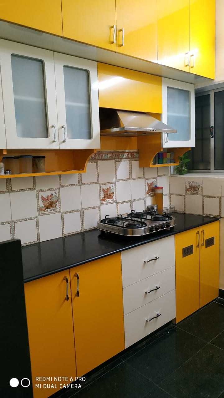 Modular Kitchen Kitchen Wood Plastic Composite Kitchen Cabinets