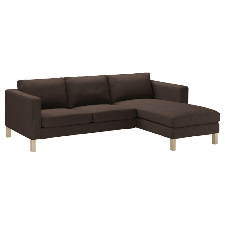 KARLSTAD Loveseat and chaise lounge - Korndal brown - IKEA