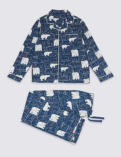 Pure Cotton Long Sleeve Pyjamas (1-16 Years) | M&S