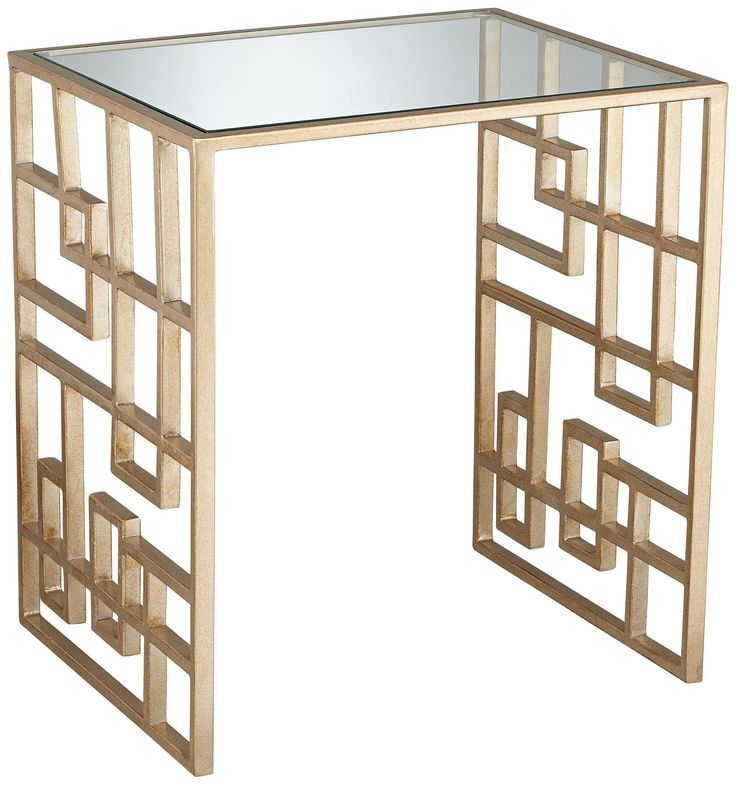 Zarah Gold Mirror Top Accent Table