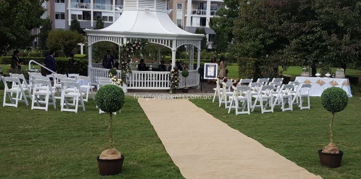 Outdoor ceremony Silkstone Park Breakfast Point by Fairytale Events