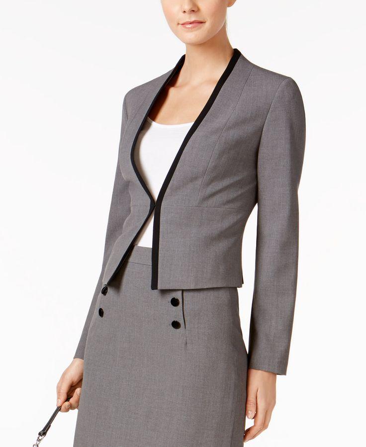 Nine West Collarless Blazer - Suits & Suit Separates - Women - Macy's
