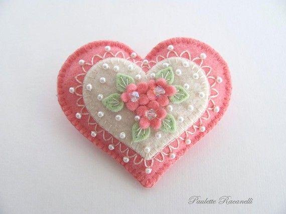 Cute pink heart ❤ by Paulette of Beedeebabee