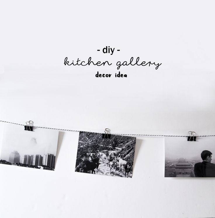 Epic DIY decoration idea monochrome kitchen gallery Meine monochrome K chen Galerie DIY Deko