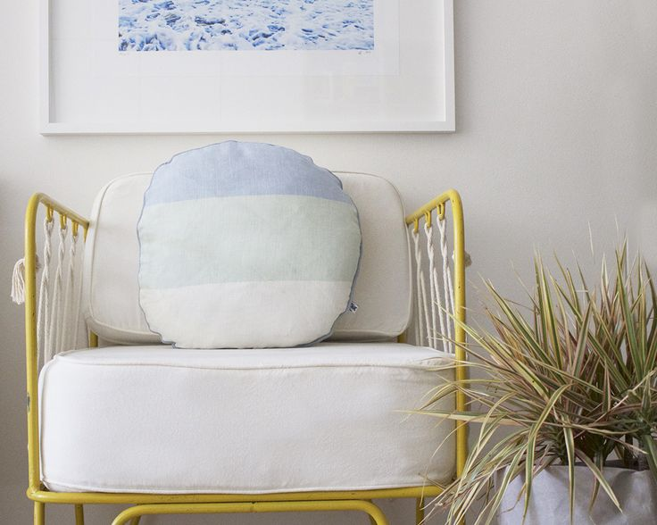 Kate & Kate Linen Cushions   Briar Stanley The Echo Circle Linen Cushion Celestial Blue/Morning Mist/Snow White Find it here: http://kateandkate.com.au/shop/christmas-gifts/echo-circle-linen-cushion-celestial-blue-morning-mist-snow-white/
