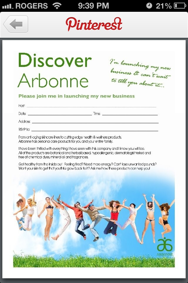 17 Best images about MLM Launch Strategies – Arbonne Party Invitations