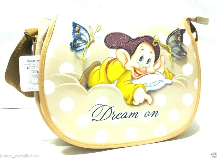 Borsa tracolla ecopelle Sette 7 Nani CUCCIOLO DREAM ON - DISNEY