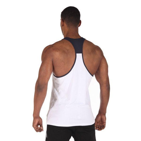 edző, gyúrós trikó, nagy méret, fehér, back