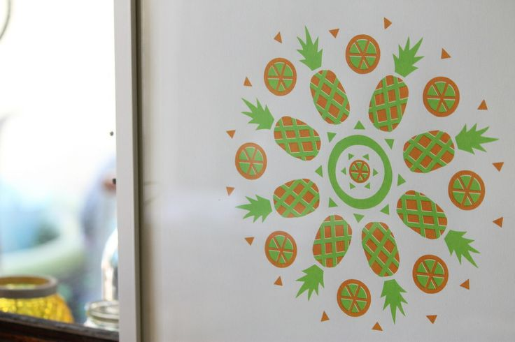 Pineapple screen print