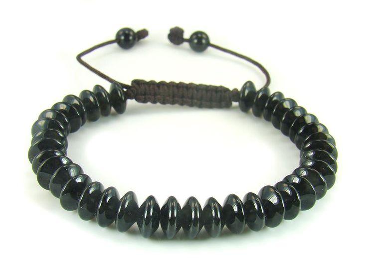 BB0544N Onyx Donut Shape Gemstone Healing Natural Crystal Shamballa Chinese Knot Bracelet - See more at: http://waggashop.com/wagga-shop-bb0544n-onyx-donut-shape-gemstone-healing-natural-crystal-shamballa-chinese-knot-bracelet