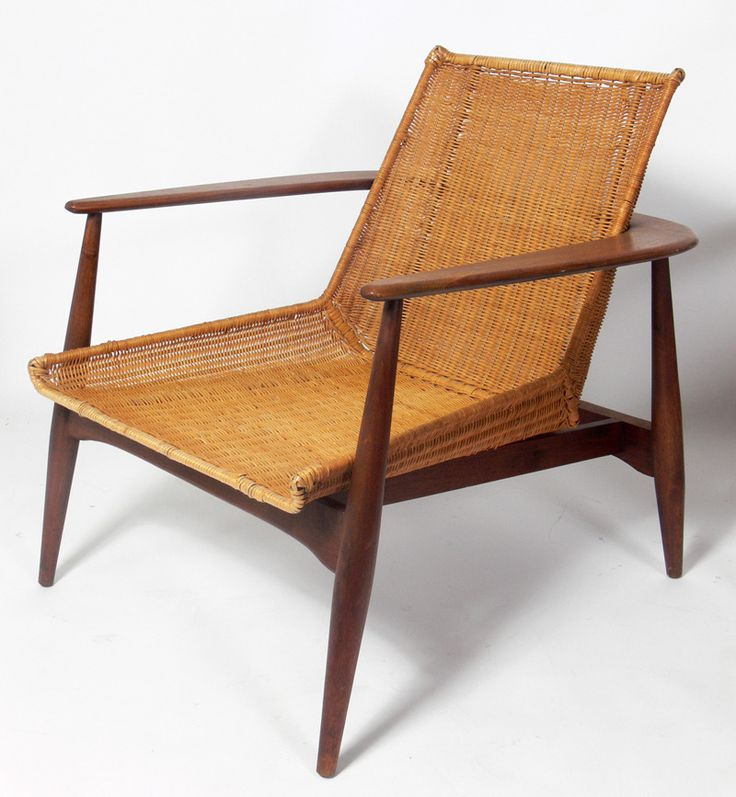 Pair Of Danish Modern Lounge Chairs By Lawrence Peabody