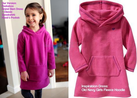 It's Mash-Up Time! A Fleece Sweatshirt Hoodie Dress Tutorial