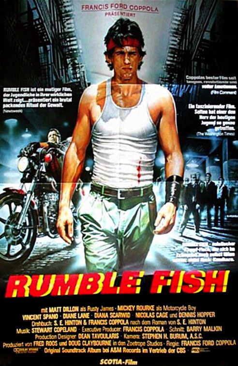 best rumble fish images matt dillon movie and  rumble fish 1983 german poster 9 10