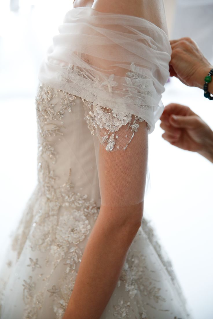 The thrill to feel this incredibly wedding dress on me !!! The lace that wraps around my chest and my arms, my skirt embracing my hips and falls winding down my legs! The small buttons which are connected one by one, all along my back, make me feel that I am the bride, and I will be his wife for all my life !!! (Chloe Sissi)