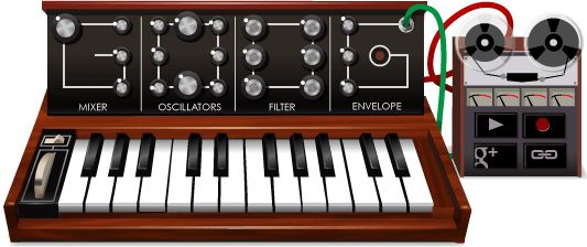 Play with Google front page Moog synthesizer.   Record the noise and play back over and over.   Fun.    Happy birthday Mr. Moog.