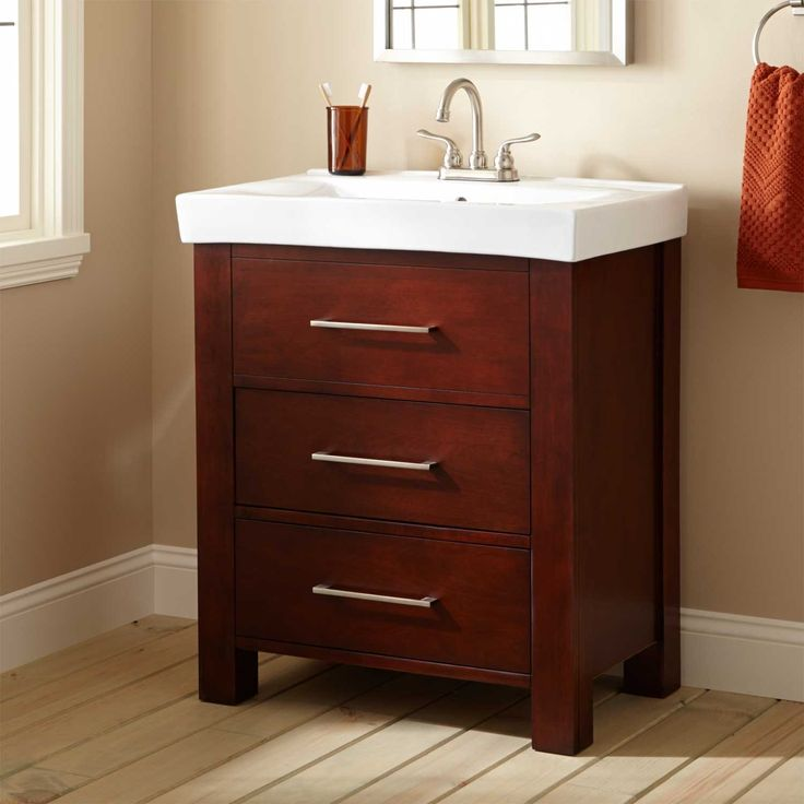 30  Peterson Vanity downstairs bath in oak or white - The sink basin helps modernize & 19 best Kelli Miller Bathroom images on Pinterest | Bathroom Master ...