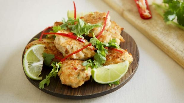 Summer means it's time to get outside and light the barbie. For something a bit different, I have been making Thai fish cakes - they cook incredibly well on the flat plate of my barbie. The mix of chilli, ginger, coconut and kaffir lime is so refreshing in an outdoor setting with an ice cold beer.