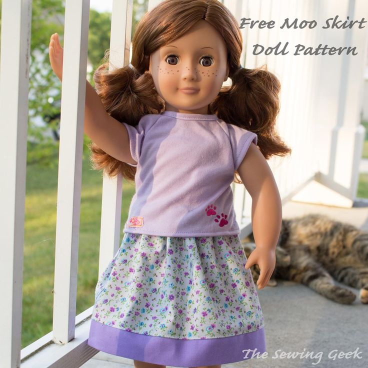 I have this plan to release a free 18″ doll patterns to match all of my patterns and today is the first of those! The first free doll pattern matches my Moo Skirt pattern. It's a super easy pattern that is perfect for beginners. You can seriously whip one of these up in no time flat. [...]
