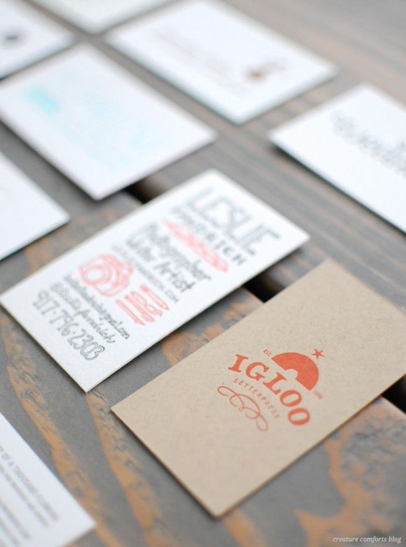 82 best business card inspiration images on pinterest business letterpress business cards from alt summit winter 2013 reheart Images