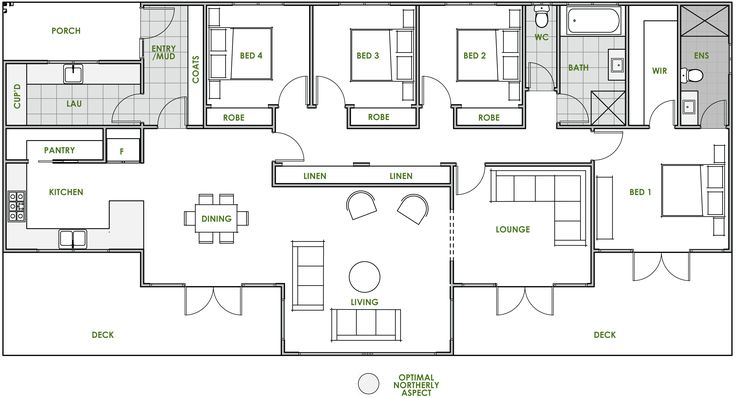 The Oxley offers the very best in energy efficient home design from Green Homes Australia. Take a look at the floor plan here.