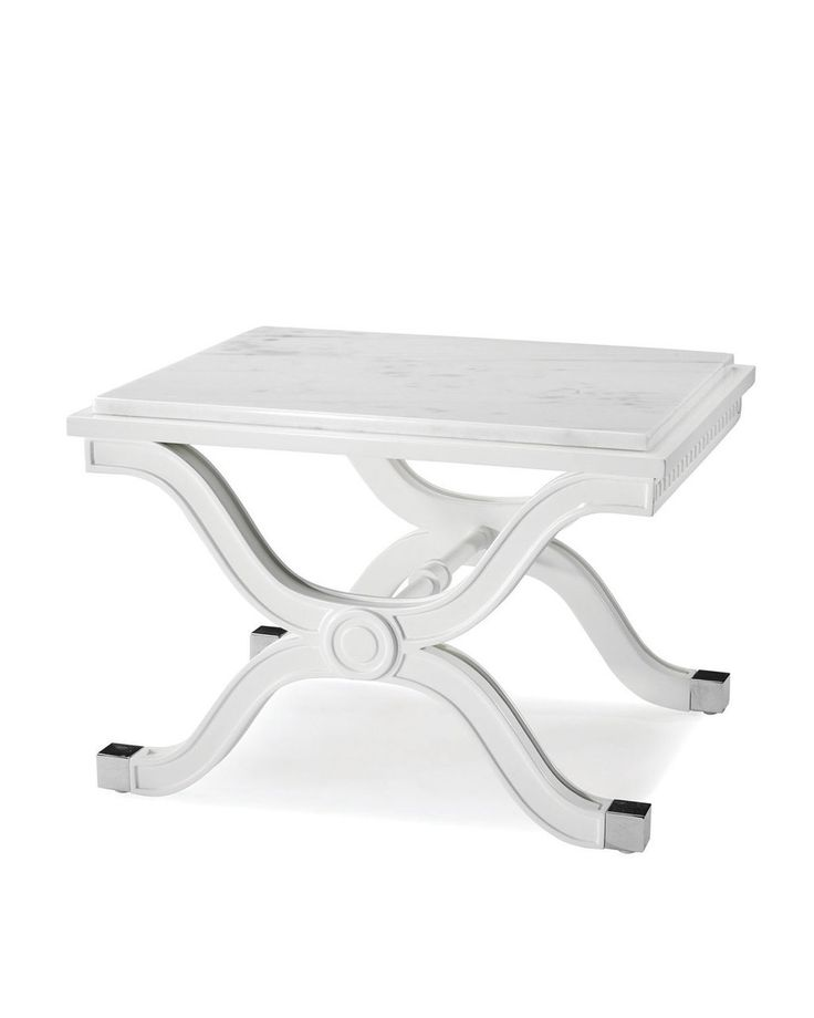 JONATHAN ADLER Regent End Table White $550 PICK UP OR SHIPS FREE PURCHASE HERE: http://beachhippiehome.mybigcommerce.com/jonathan-adler-regent-end-table-white-550/ INCLUDES NORTON SHOPPER PROTECTION & LOWEST PRICE GUARANTEE