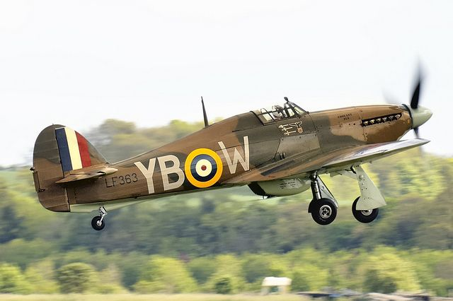 Hawker Hurricane. Work horse of Fighter Command in the Battle of Britain era though inferior to the Spitfire and the ME 109 for that matter.