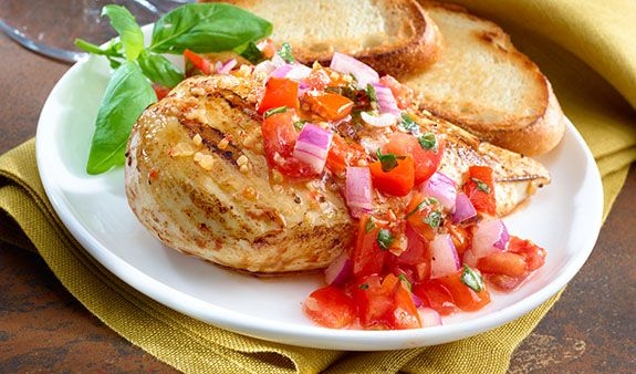 Marinated Chicken Bruschetta | Recipe